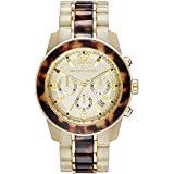 Michael Kors Preston Chronograph Horn and Tortoiseshell Acetate Ladies Watch MK5764