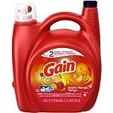 Gain Liquid Laundry Detergent, Apple Mango Tango,Regular washer and HE compatible, 72 Loads, 150 fl oz