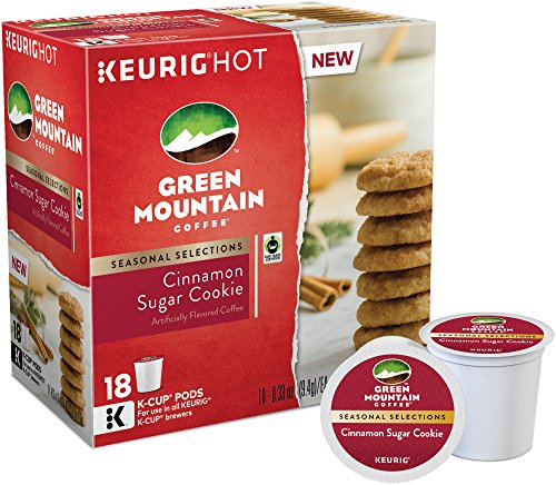 Green Mountain Coffee, Cinnamon Sugar Cookie, K-Cups for Keurig Brewers, 18 C... (Gingerbread Coffee K Cup compare prices)