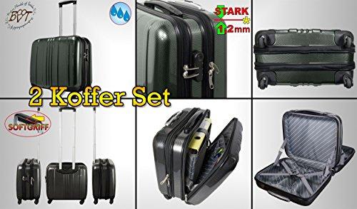 2-groe-Alu-Design-Hartschalenkoffer-silber-Koffer-wetterfester-Koffer-Pilotenkoffer-mit-Rollen-Teleskopgriff-standfest-Business-Reisekoffer-Handgepck-Flugreise