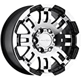 "Vision Warrior 375 Gloss Black Machined Face Wheel (16x8""/5x135mm)"