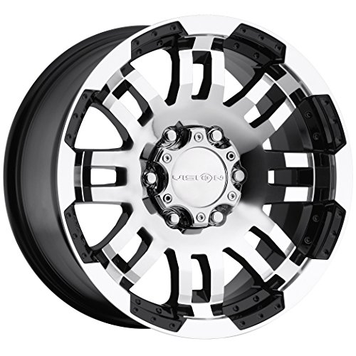Vision Warrior 375 Gloss Black Machined Face Wheel (16x8