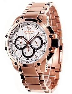 Detomaso Herren-Armbanduhr XL  PESARO DT1042-A Classic Chronograph Quarz Edelstahl DT1042-A