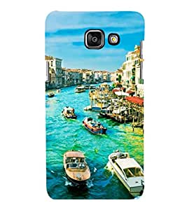 printtech Italy River Boats Back Case Cover for Samsung Galaxy A7 2016 Edition