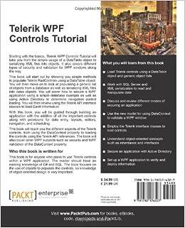 Telerik WPF Controls Tutorial: Daniel R. Spalding: 9781782176527
