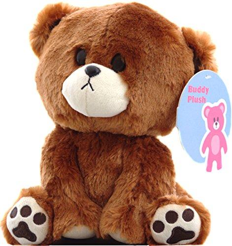 "Buddy the curious Teddy Bear Plush Stuffed Animal 9"" Buddy Plush"