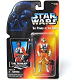 Star Wars Power of the Force Luke Skywalker in X-Wing Fighter Pilot Gear Red Card Action Figure