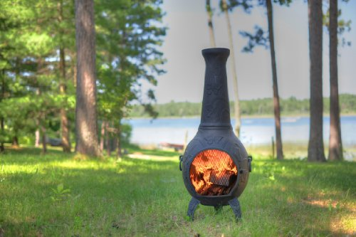 The-Blue-Rooster-Butterfly-Chiminea-with-Gas-in-Charcoal