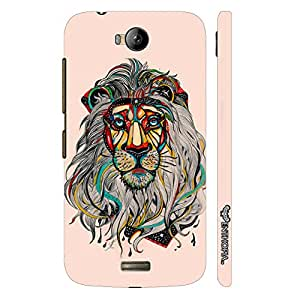 Micromax Canvas Q336 Sporty Lion designer mobile hard shell case by Enthopia