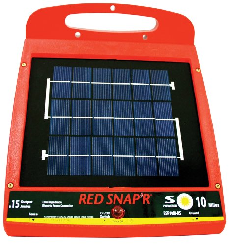Red Snap'R Esp10M-Rs 10-Mile Solar Low Impedance Fence Charger