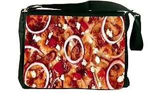 Rikki KnightTM Pizza Messenger Bag - Shoulder Bag - School Bag for School or Work