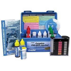 Taylor Technologies Inc K 2006 Test Kit Comp Chlorine Fas Dpd Swimming Pool