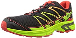 Salomon Men\'s Wings Flyte 2 Trail Running Shoe, Black/Granny Green/Radiant Red, 13 D US
