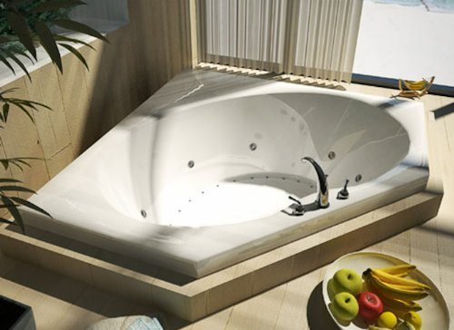 Atlantis-Whirlpools-6060vdl-Venus-Corner-Air-Whirlpool-Bathtub-60-X-60-Center-Drain-White