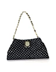 Arisha Kreation Co Women Hand Made Hand Purse & Clutch Bag (Black)