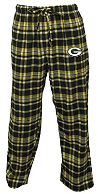 "Green Bay Packers NFL ""Bleacher"" Men's Flannel Pajama Pants"