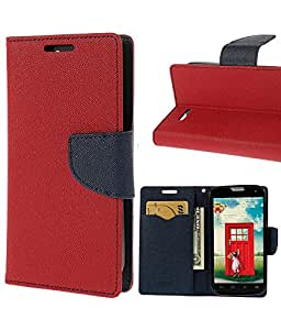 Winchip Mercury Flip cover For Micromax Bolt Q336 - Red