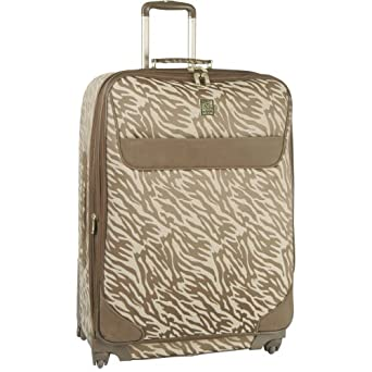 Anne Klein Luggage Lion Mane Carry-On Printed Spinner, Brown/Tan, One Size