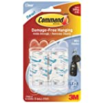 Command Mini Clear Hooks  with Clear...