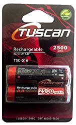 Tuscan AA Ni-MH 1.2V 2500mAh Rechargeable Battery