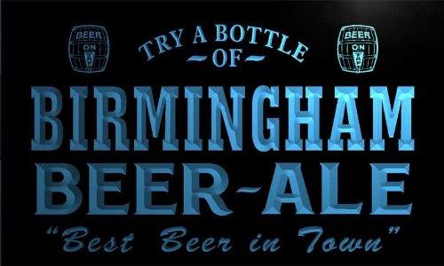 Pn2147-B Birmingham Best Beer Ale In Town Bar Pub Neon Light Sign