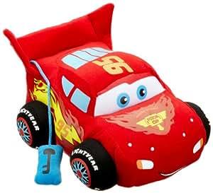 Disney Cars 2 1000431 - Lightning McQueen Plüsch mit Sound und Bewegung auf Displaybox, ca. 25 cm