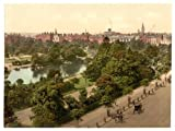 Photographic Print of Victorian Photochrom St Stephen's Green Park, Dublin, Ireland