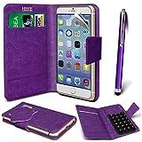 Online-Gadgets UK - Motorola RAZR HD XT925 PU Leather Suction Pad Wallet Case Cover & High Sensitive Stylus Pen - Purple