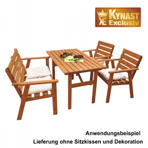 garten sitzgruppe set 4 tlg kiefernholz gebeizt gartengarnitur gartenm bel g nstig kaufen. Black Bedroom Furniture Sets. Home Design Ideas