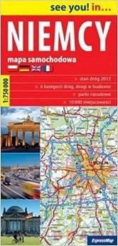 Niemcy mapa samochodowa 1:750 000 (Polska wersja jezykowa) (Polish