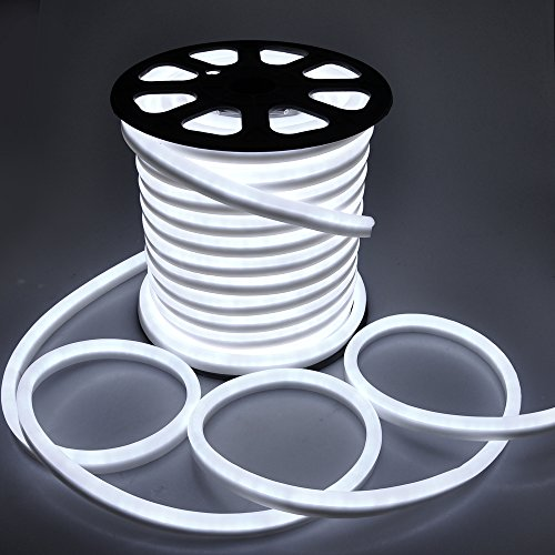 150Ft Cool White/Red/Blue/Green Flex Led Neon Rope Light Indoor Outdoor Holiday Christmas Decorative Lighting (Cool White)