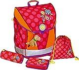 Spiegelburg 11834 -Juego de mochila Ergo Style Fun, diseño de flores, fluorescente
