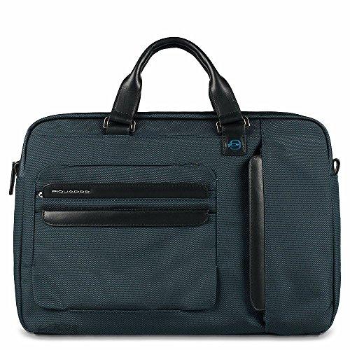 Piquadro Cartella porta computer e porta iPad®Air/Air2 a due manici Epsilon blu notte