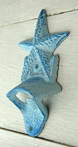 Cast Iron Wall Mounted Starfish Bottle Opener (Bottle Opener Wall Mounted White compare prices)