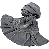 (キョウエツ) KYOETSU メンズ兵児帯 正絹 無地感 絞り 31 (2.灰)