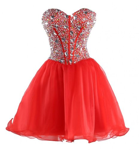 MerMaid Women's Party Gala Dance Homecoming Dress Color Red Size 4