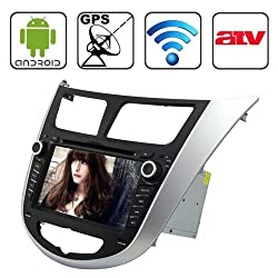See Rungrace 7.0 inch Android 4.2 Multi-Touch Capacitive Screen In-Dash Car DVD Player for Hyundai Verna with WiFi / GPS / RDS / IPOD / Bluetooth /ATV Details