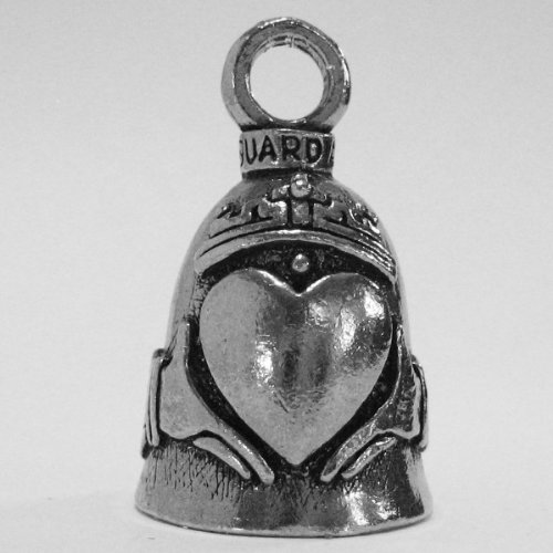 Guardian® Celtic Claddagh Heart Motorcycle Biker Luck Gremlin Riding Bell or Key Ring