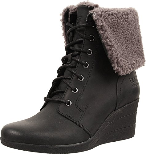 ugg-womens-zea-black-leather-boot-9-b-m