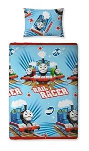 Character World 135 x 200 cm Thomas and Friends Race Single Rotary Duvet Set