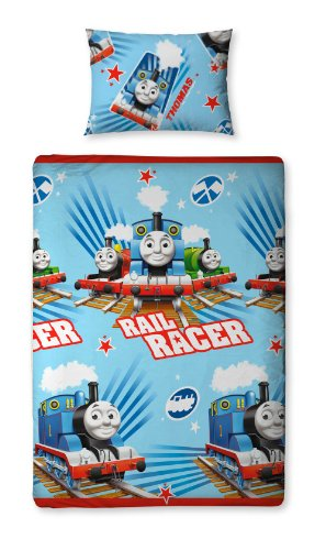 135 X 200 Cm Thomas And Friends Race Single Rotary Duvet Set By Character World