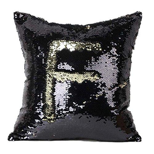 Ouneed® Kissenbezug , Double Color Glitter Pailletten Dekokissen Fall Cafe Home Decor Kissen Abdeckungen (braun B)