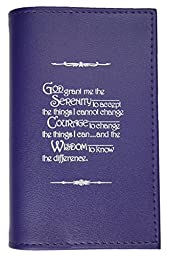 Alcoholics Anonymous AA Soft Paperback Big Book Cover Serenity Prayer Dark Purple
