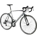 28 Zoll Rennrad Viking Vuelta Sti 4 Rahmengrößen 2 Farben, Farbe:grau/grün;Rahmengrösse:50 cm