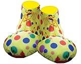 Dress Up America - Cubrezapatos de payaso, para adultos, color amarillo (624A)