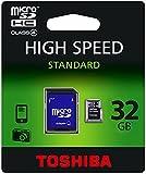 Toshiba Transflash Carte mémoire micro SD 32 Go 4 Mo/s Classe 4