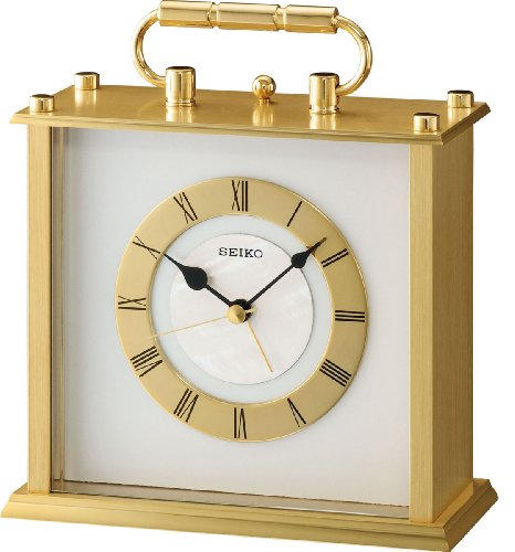 Beautiful Presentation Carriage Clock Alarm by Seiko QHE066G