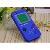 BLUE Game Boy Series Silicone Rubber iPhone 4/4S Case