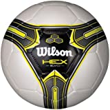 Wilson Hex Soccer Ball (White/Yellow, Size 5)