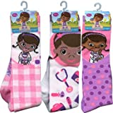Disney Girls Character Knee High Socks Assortment 3 Pack (Size 6-8, Doc McStuffins)